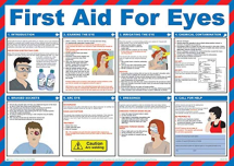 FIRST AID FOR EYES POSTER 590 X 420 (A2)