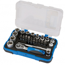 25 PIECE 1/4inch SOCKET SET  DR. METRIC