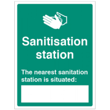 THE NEAREST SANITISATION STATION IS SITUATED: