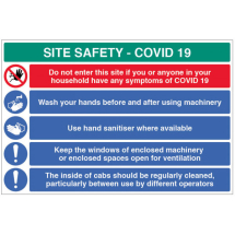 SITE SAFETY COVID19 WASH HANDS ETC