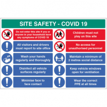 REPORT TO OFFICE ETC SITE SAFETY BOARD COVID19
