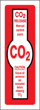CO2 RELEASE MANUAL CONTROL POINT