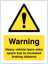 HEAVY VEHICLE LEAVE EXTRA SPACE ETC