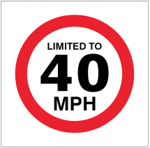 LIMITED TO 40MPH