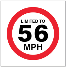 LIMITED TO 56MPH