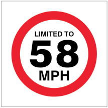 LIMITED TO 58MPH
