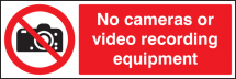 NO CAMERAS OR VIDEO RECORDING EQUIPMENT