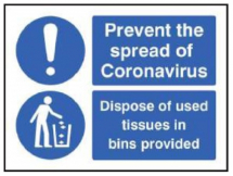 PREVENT THE SPREAD DISPOSE OF TISSUES IN BINS