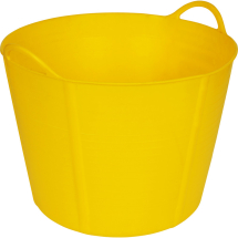 RHINO TUB FLEXI YELLOW 40L RUBBLE BUCKET