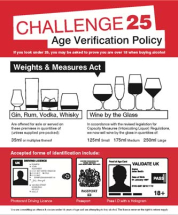 AGE VERIFICATION POLICY WEIGHTS & MEASURES ACT 35ML