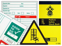 GOOD TO GO PODIUM STEPS SAFETY CHECK BOOK