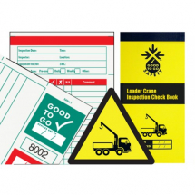 GOOD TO GO SAFETY LOADER CRANE CHECK BOOK - 25 INSPECTIONS
