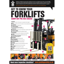 GTG FORKLIFT INSPECTION POSTER 420X594MM SYNTH PAPER