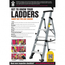 GTG LADDER INSPECTION POSTER 420X594MM SYNTHETIC PAPER