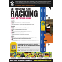 GTG RACKING INSPECTION POSTER 420X594MM SYNTHETIC PAPER