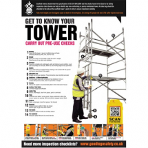 GTG TOWER INSPECTION POSTER 420X594MM SYNTHETIC PAPER