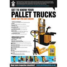 GTG PALLET TRUCK INSPECTION POSTER 420X594MM SYNTH PAPER