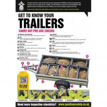 GTG TRAILER INSPECTION POSTER 420X594MM SYNTHETIC PAPER