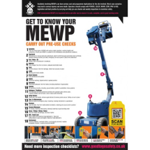 GTG MEWP INSPECTION POSTER 420X594MM SYNTHETIC PAPER