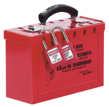 PORTABLE GROUP LOCKOUT BOX,RED