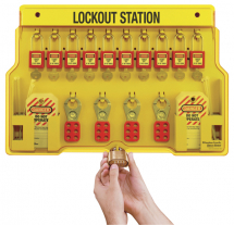 LOCKOUT STATION, 10 LOCK CAPACITY, INCLUDES CONTENTS