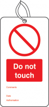 DO NOT TOUCH DOUBLE SIDED SAFETY TAGS (PACK OF 10)