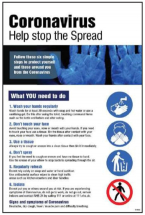(CORONA) HELP STOP THE SPREAD POSTER SYNTHETIC PAPER