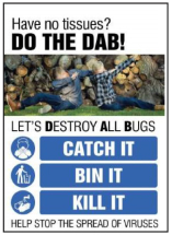 DO THE DAB DESTROY ALL BUGS POSTER - SYNTHETIC PAPER