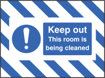 DOOR SCREEN SIGN- KEEP OUT, THIS ROOM IS BEING CLEANED
