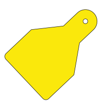 PLAIN ID WIDE FLAG TAGS (PACK OF 20) YELLOW 100X65
