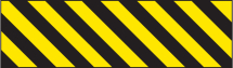 HAZARD MARKER 600X150MM REFLECTIVE ALU RIGHT HAND