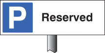 PARKING RESERVED VERGE SIGN 450X150MM (POST 800MM)