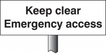 KEEP CLEAR EMERGENCY ACCESS VERGE SIGN 450X150MM