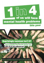SURPRISINGLY COMMON ISN'T IT? MENTAL HEALTH POSTER 420X594MM