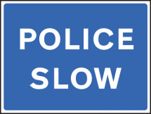 POLICE SLOW FOLD UP 900X600MM SIGN