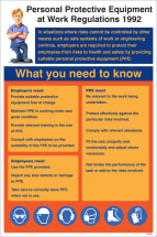 PPE REGULATIONS 1992 POSTER