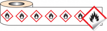 250 S/A LABELS 50X50MM GHS LABEL - FLAMMABLE
