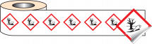 250 S/A LABELS 50X50MM GHS LABEL - ENVIRO HAZARDOUS