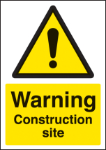 WARNING CONSTRUCTION SITE A4 RP