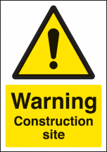 WARNING CONSTRUCTION SITE A4 SAV
