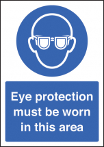 EYE PROTECTION MUST BE WORN - A4 RP