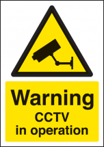 WARNING CCTV IN OPERATION A4 RP
