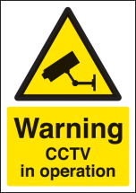 WARNING CCTV IN OPERATION A4 SAV