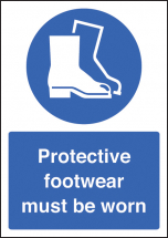 PROTECTIVE FOOTWEAR MUST BE WORN - A4 SAV