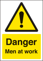 DANGER MEN AT WORK - A4 SAV