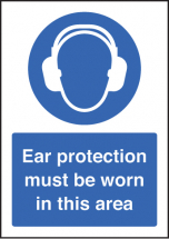 EAR PROTECTION MUST BE WORN A5 SAV
