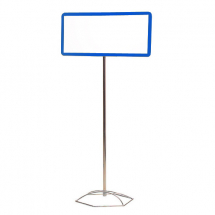 FLOOR STAND FOR SUSPENDED FRAMES (CHROME POLE WITH BASE)