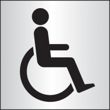 DISABLED WC 140X140MM ALU