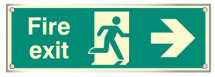 FIRE EXIT RIGHT VISUAL IMPACT C/W STAND OFF LOCATORS