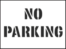 STENCIL KIT 600X400MM NO PARKING